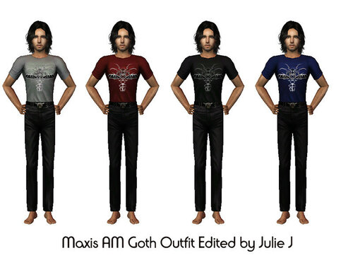 Maxis Male Goth Outfit Edited by Julie J