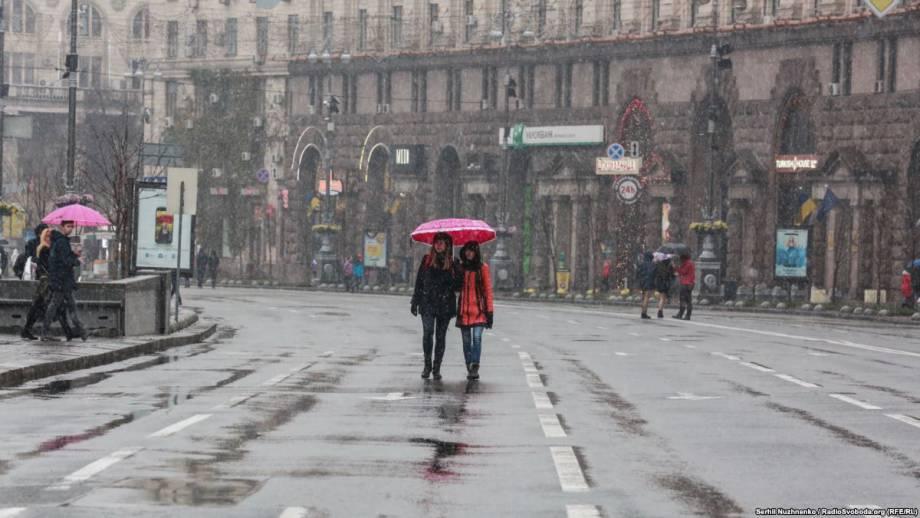 Синоптики: в ряде регионов Украины завтра ожидается мокрый снег