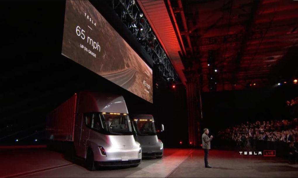 Электрический грузовик от компании Тесла