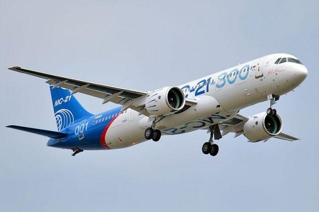 Самолет МС-21 впервые прилетел изИркутска вЖуковский