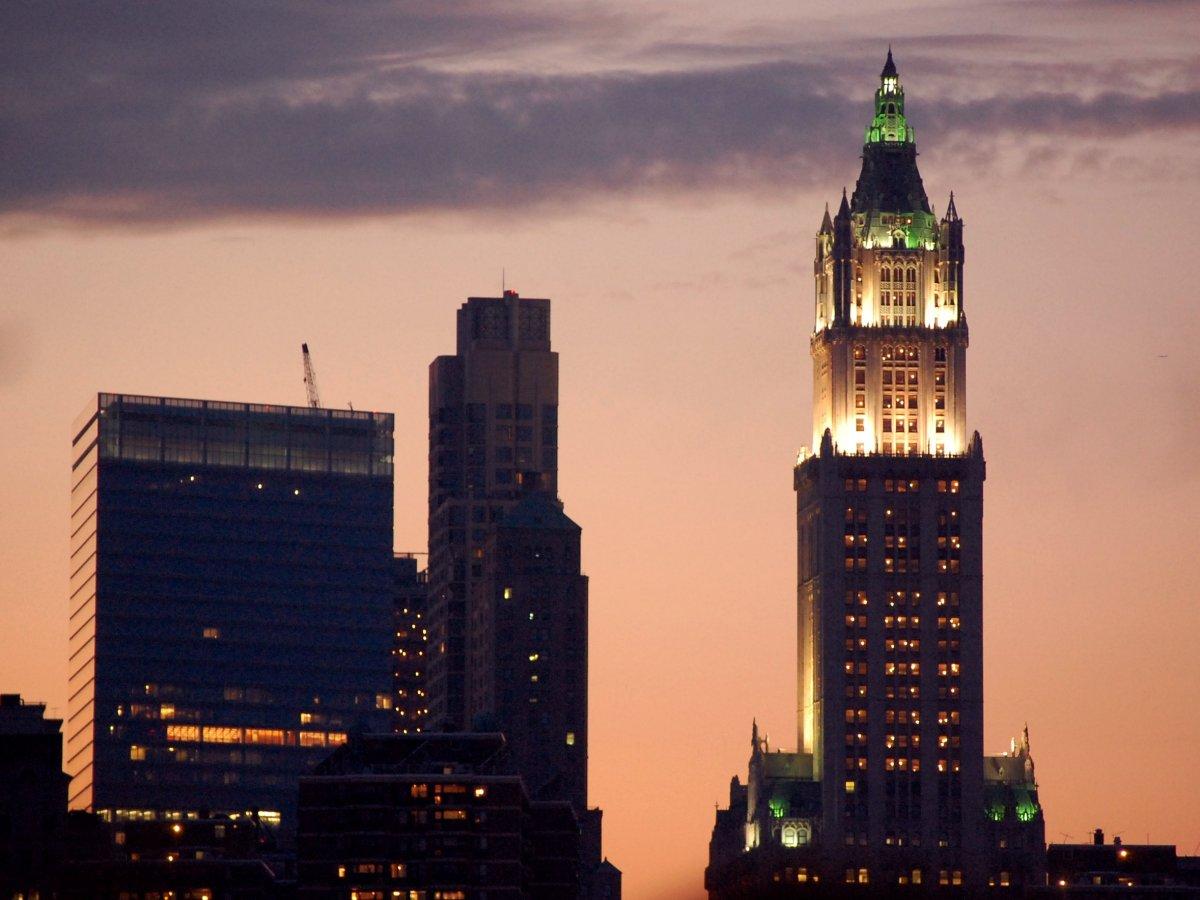 Вулворт-билдинг в Нью-Йорке было самым высоким зданием в мире в период с 1913 по 1930 год.