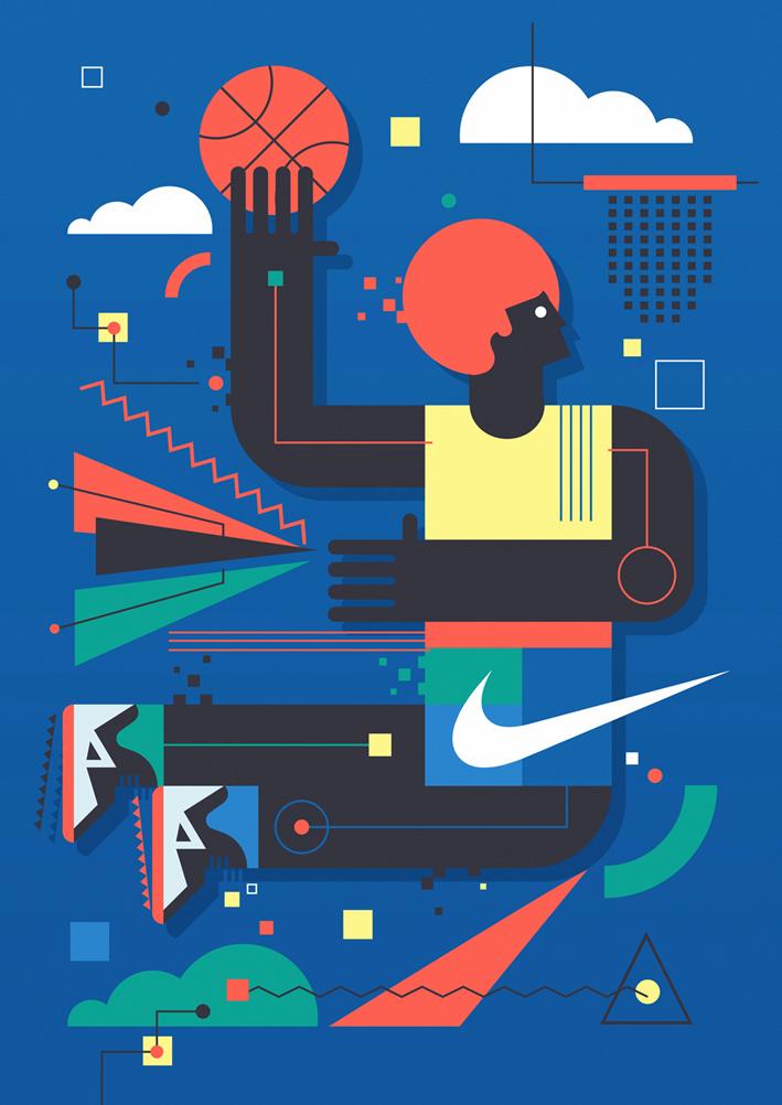 Nike Wall Mural by Neil Stevens