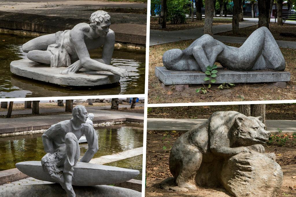 Парк с сексуальными фигурами скульптуры