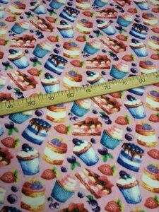 Флис АНТИПИЛЛИНГ десерт  2-х сторонний, Digital, ширина 180см, плотность 200-220гр/м, Цена 430 рублей