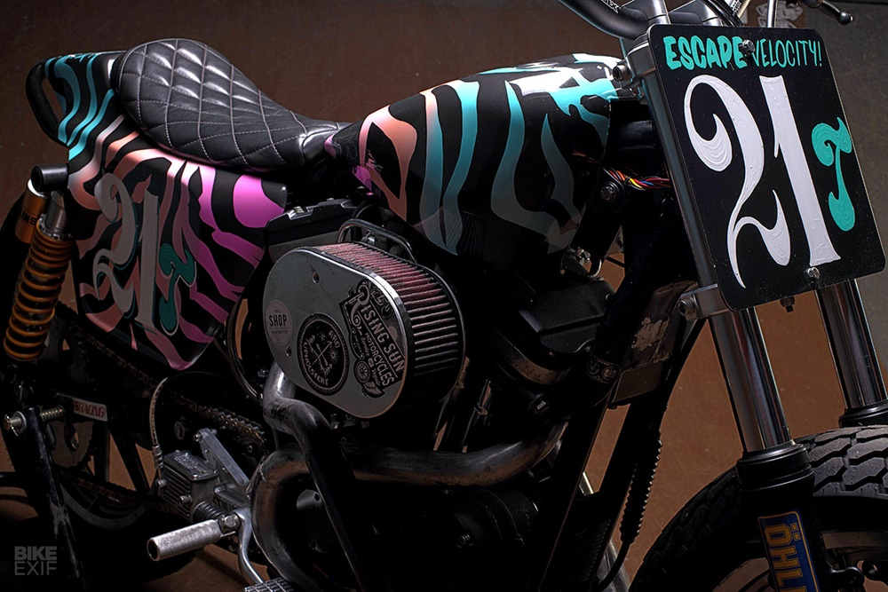 Escape Velocity Cycles: флэт-трекер Harley-Davidson Sportster 1989