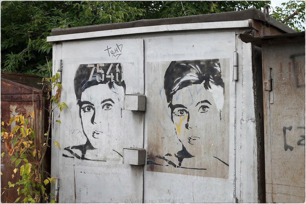 Графити на металлическом гараже [© NickFW - 18.09.2017]
