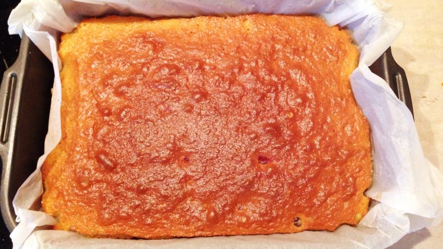 Ароматный клюквенный пирог