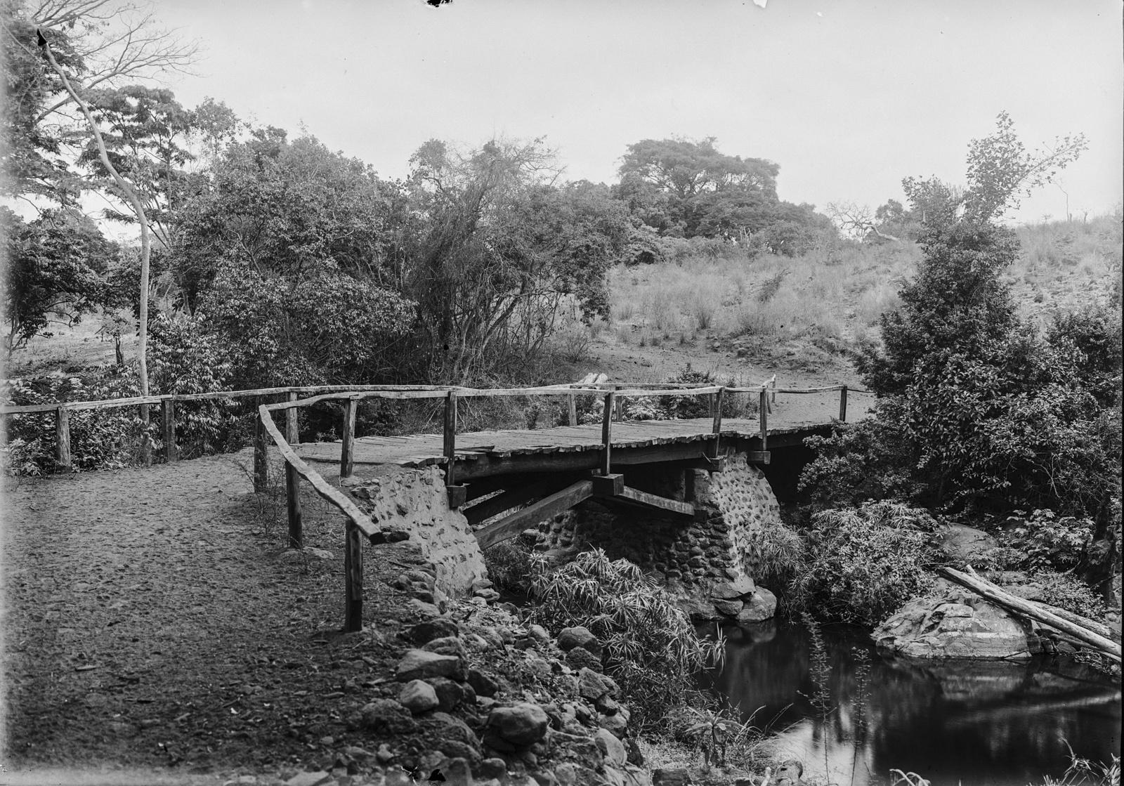 87. Деревянный мост через Пангани около Моши