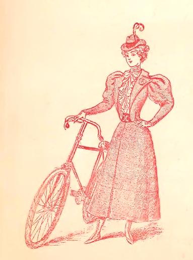Женщина и велосипед XIX век