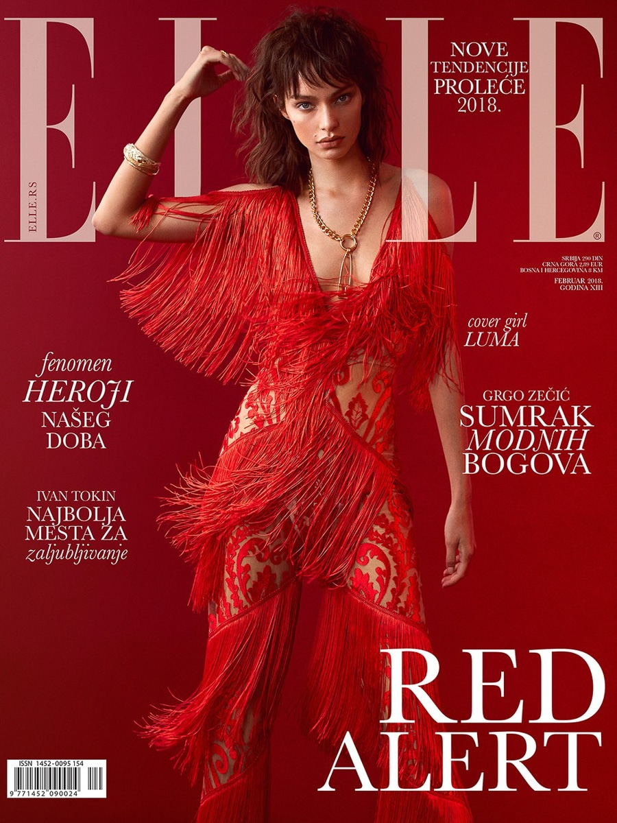 Luma Grothe by Greg Swales for ELLE Serbia February 2018