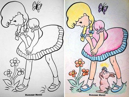 Во-первых, зачем изначально было рисовать маленькую девочку в юбке, развевающейся на ветру? Во-вторы