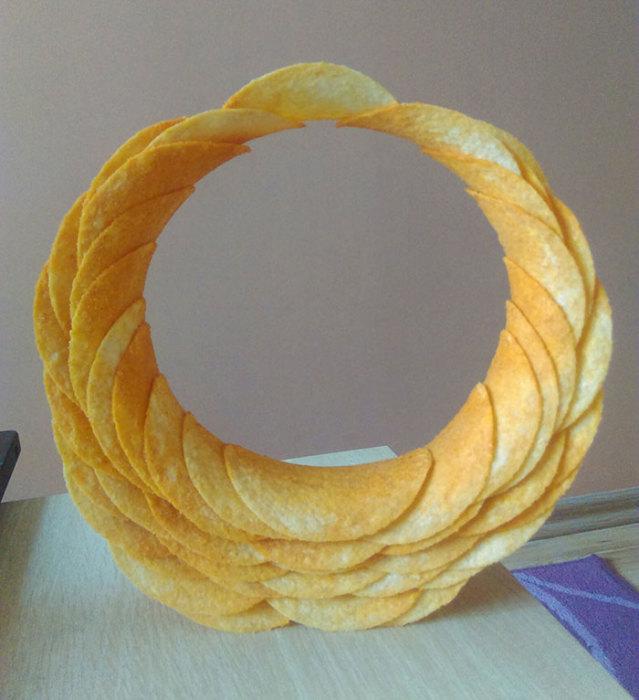 Когда к скучающему инженеру попала пачка чипсов Pringles.   «Творческий подход»