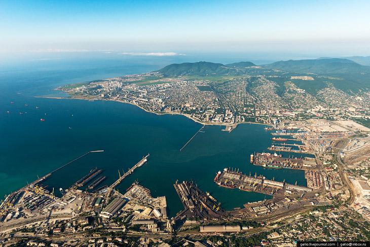 Новороссийский морской порт — самый большой порт России (50 фото)