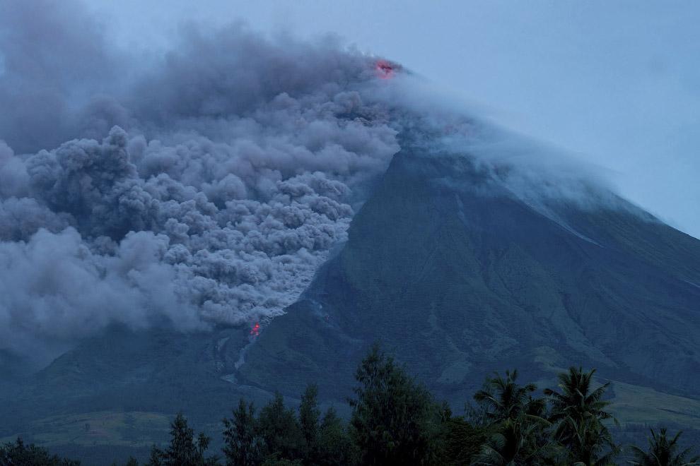 HD вулканы высота с высота вулкан с высоты Филиппины