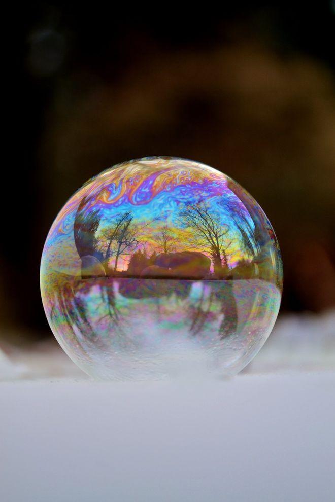 мороз мыльные пузыри