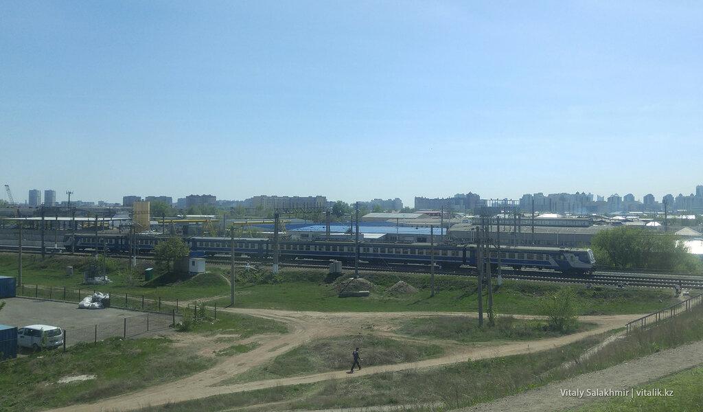 Поезд в Астане.