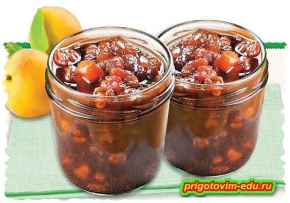 Чатни из абрикосов (приправа к мясу)