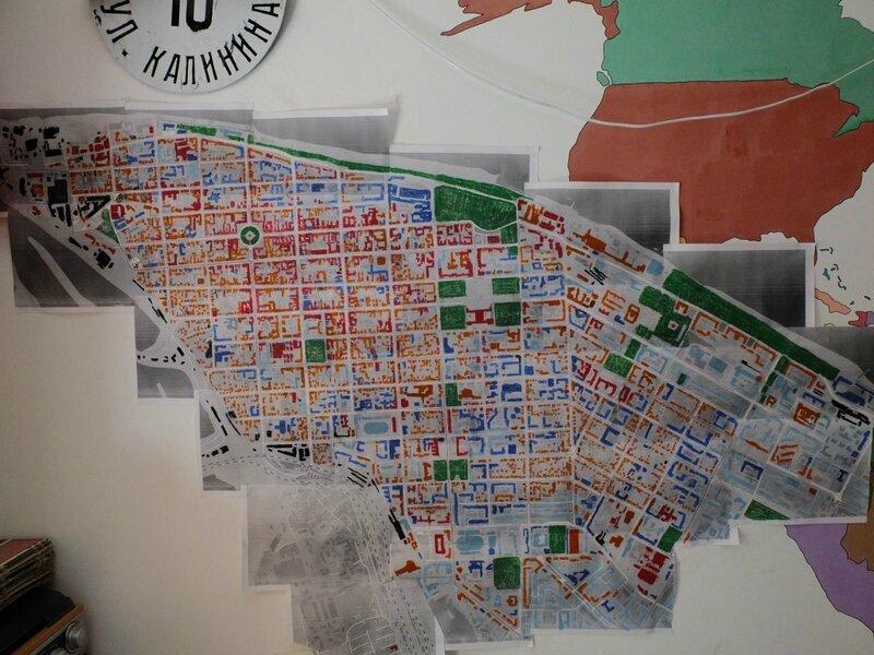 Цветовая архитектурная карта центра Самары