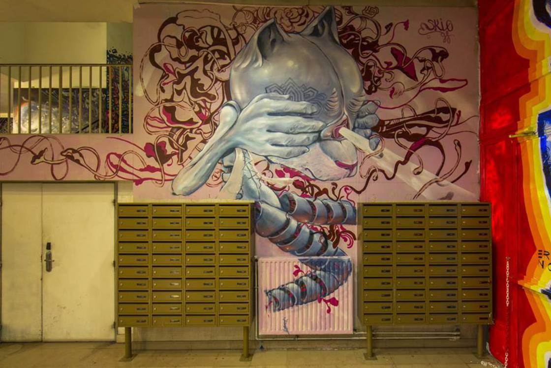 Rehab2 – 100 street artists painted a school before its renovation