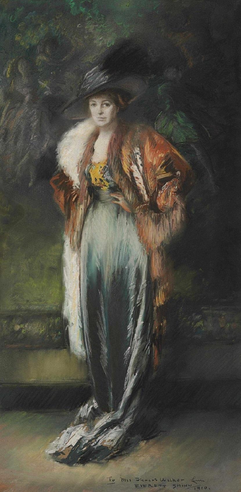 1910 Миссис Стюарт Уолкер в мехах