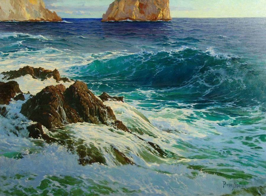 """Морской пейзаж у побережья Капри"""
