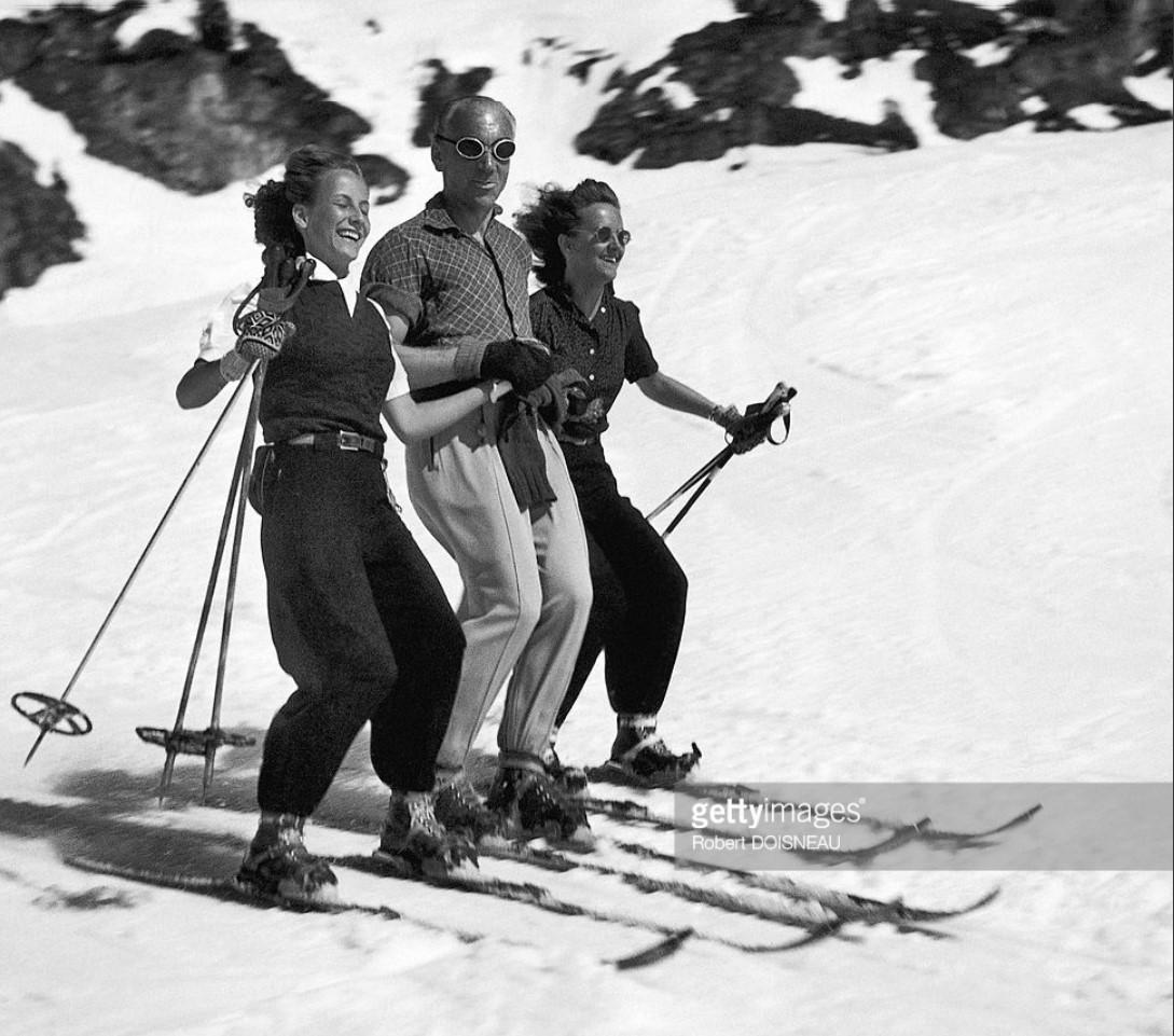 1946. Три веселых лыжника в Тироле, Австрия
