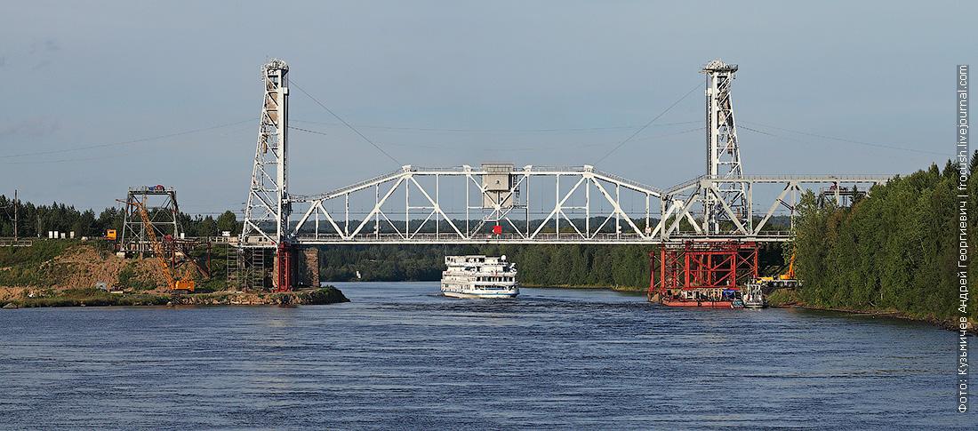 Подпорожский железнодорожный мост через реку Свирь