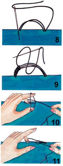 Как сделать петлю на занавески
