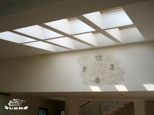007. холл, потолочные мансардные окна, интерьер