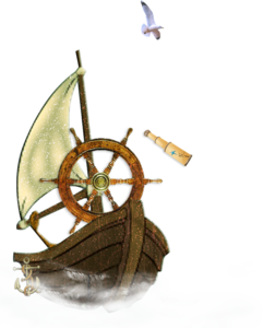 лодка с парусом