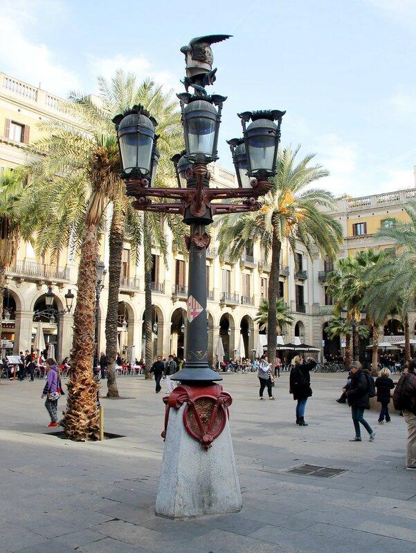 Барселона. Королевская площадь (Plaça Reial)