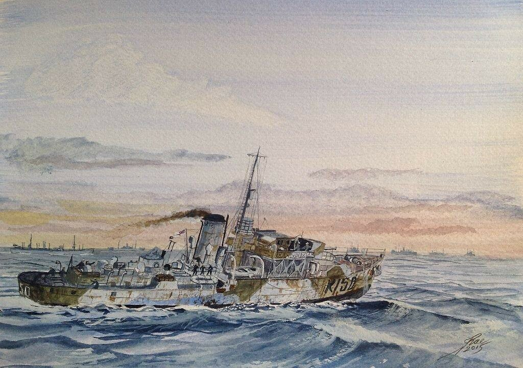 Here's another Canuck, HMCS Eyebright, post war, converted to a Dutch Whalecatcher.