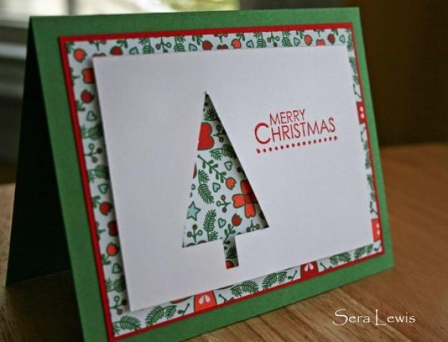 © Sera Lewis / pinkpaperbakery  Для этой открытки нужны 4или 3слоя картона (можно обойтись б