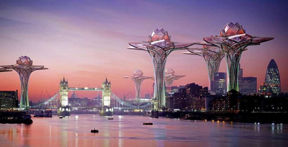Архитектор изВеликобритании Цветан Тошков представил проект «City inthe Sky»— комплексы вформе л