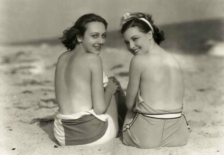 Американские актрисы Энн Дворак и Ракель Торрес, 1930-е годы.