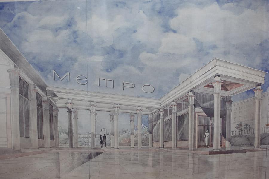 метро, фото, выставка, схемы, чертежи, рисунки, история