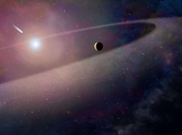 Телескоп Hubble зафиксировал поглощение белым карликом огромной кометы