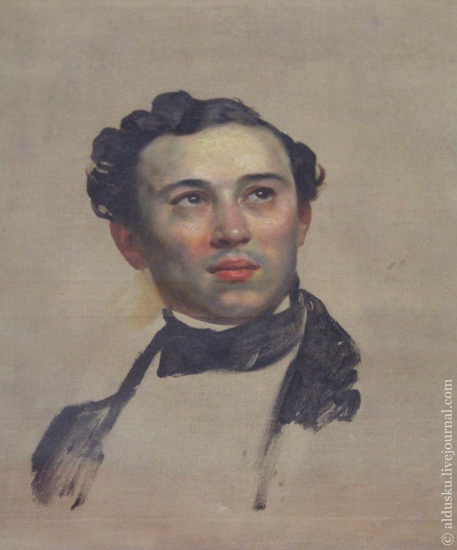 Брюллов К.П. (1799–1852) Портрет Н.Д. Алфераки. 1842 Холст, масло