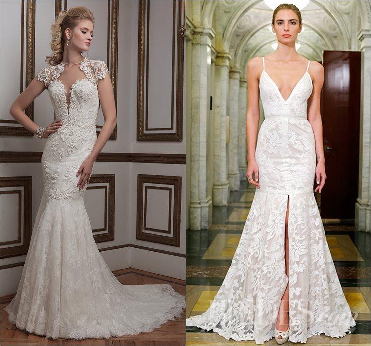Кружевные свадебные платья 2016 фото 8