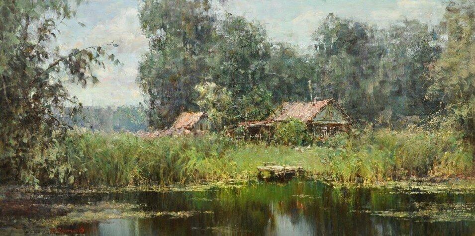 Валентин Коротков - Заросший пруд. 2009.jpg