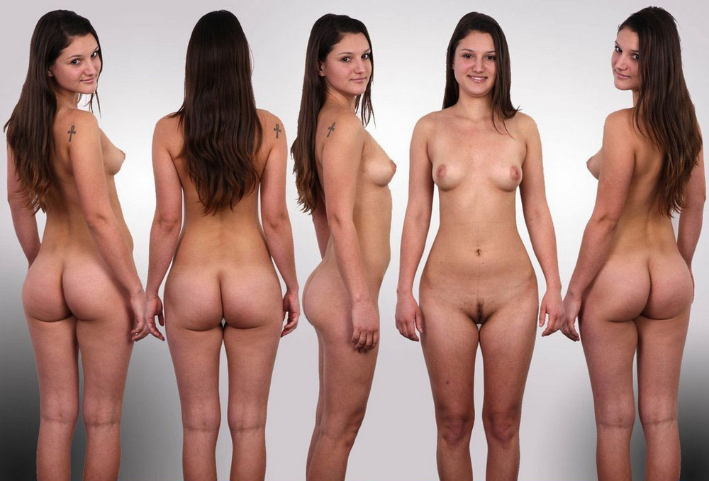 Naked females showing their things