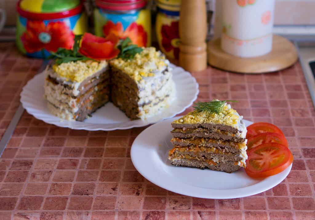 Как сделать печеночный торт рецепт с фото пошагово 648