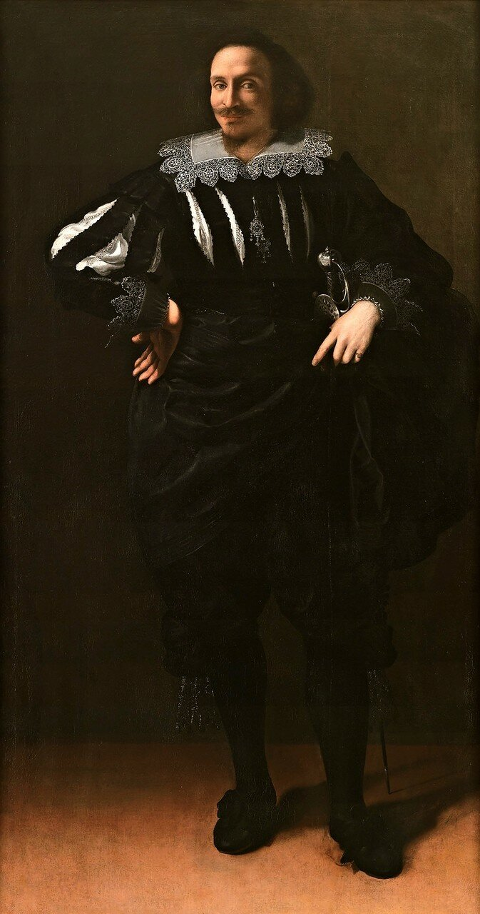 Artemisia Gentileschi / Артемизия Джентилески (1593-1653) - Ritratto di gentiluomo (Antoine de Ville?) / Портрет джентельмена (Антуан Девилль?) (около 1626-1627)