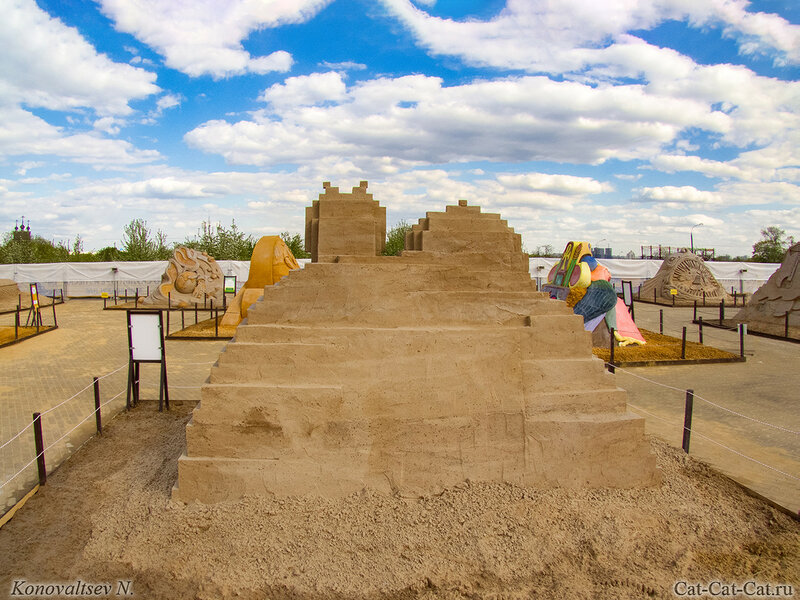 Выставка скульптур из песка в Коломенском 2018