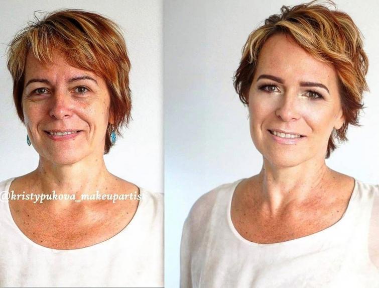 До и после: 18 наглядных примеров того, как самый обыкновенный макияж меняет женщин! (18 фото)