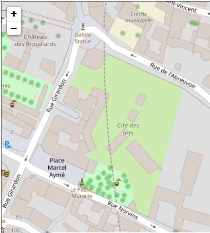 карта сада Норвен