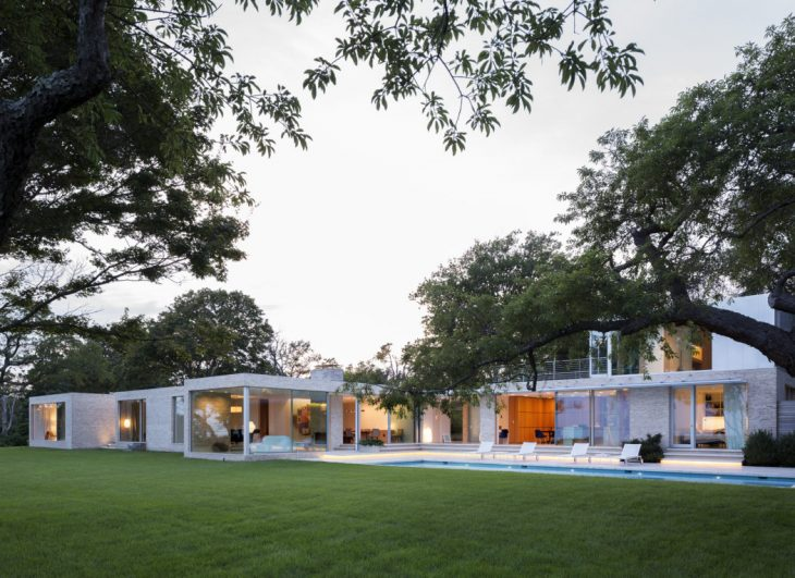 This weekend home, built on the south shore of Long Island, is envisioned as a social platform for t