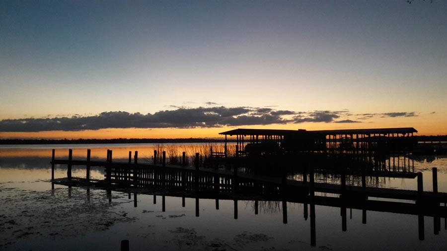 Флорида. Закат на реке
