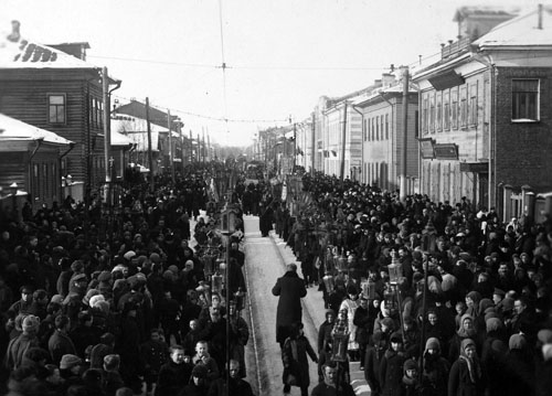 Архангельск 1919 год Крестный ход ВКонтакте Дмитрий Бычихин 500.jpg