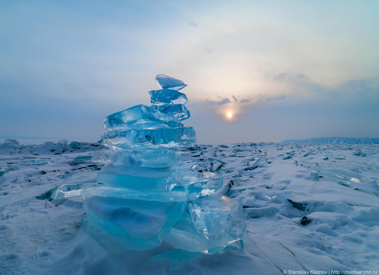 Листвянка. Ангара, пушистые кристаллы и первая ледяная пирамидка...